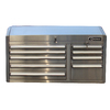 Kobalt 9-Drawer 41-in 430 Stainless Steel Tool Chest Brushed Stainless Steel