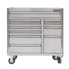 Kobalt 34.4-in x 41-in 11-Drawer Ball-Bearing Stainless Steel Tool Cabinet Stainless Steel