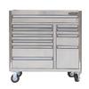 Kobalt 34.4-in x 41-in 11-Drawer Ball-Bearing Stainless Steel Tool Cabinet Stainless Steel