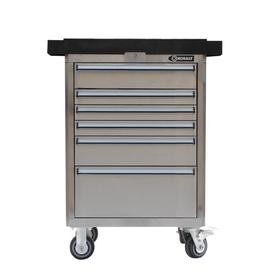 Kobalt 40-in x 27-in 6-Drawer Ball-Bearing Stainless Steel Tool Cabinet