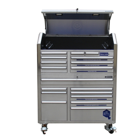 Kobalt 18-Drawer 53-in Stainless Steel Tool Chest