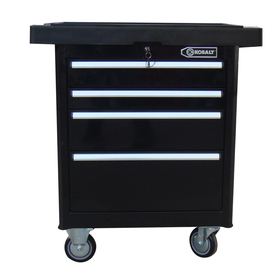 Kobalt 4-Drawer 35-3/4-in Steel Tool Cabinet (Black)