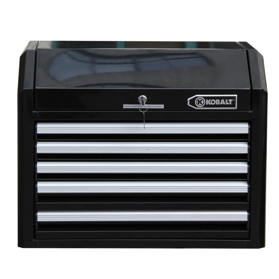 kobalt 5 drawer heavy duty ball bearing steel tool box chest cabinet storage new ebay. Black Bedroom Furniture Sets. Home Design Ideas