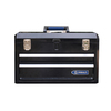 Kobalt 20.6-in 2-Drawer Black Steel Lockable Tool Box
