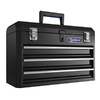 Kobalt 20.6-in 3-Drawer Black Steel Lockable Tool Box