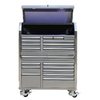 Kobalt 68.7-in x 53-in 18-Drawer Ball-Bearing Stainless Steel Tool Cabinet