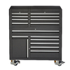 Kobalt 65.5-in x 56-in 15-Drawer Ball-Bearing Steel Tool Cabinet (Black)