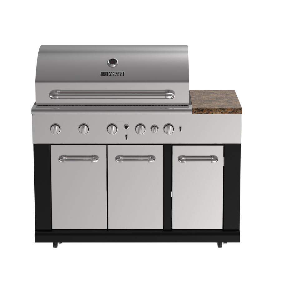 Master Forge 6-Burner Modular Gas Grill & Refrigerator