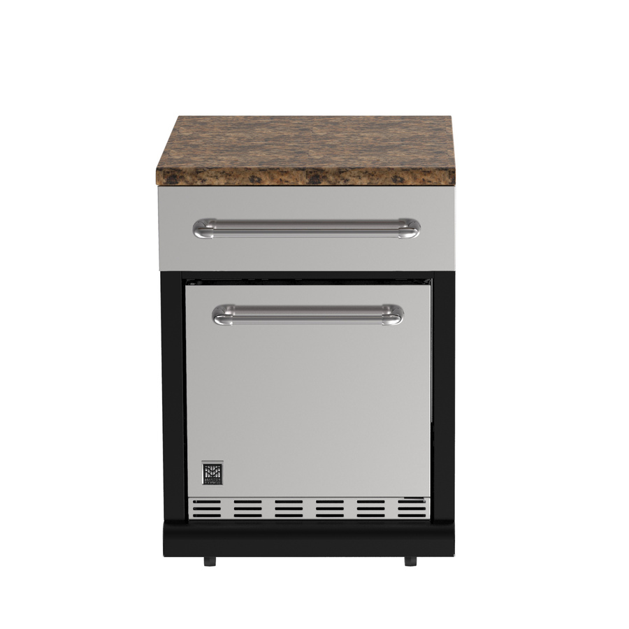 Shop master forge 0 burner modular outdoor refrigerator at for Outdoor kitchen refrigerators built in