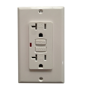 Utilitech 2-Pack 20-Amp 125-Volt White GFCI Decorator Outlet