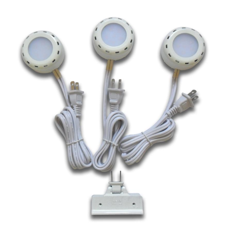 shop utilitech pro 3 pack 2 6 in plug in under cabinet led puck lights. Black Bedroom Furniture Sets. Home Design Ideas