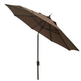 Shop Garden Treasures 8 Ft 11 In Brown Round Market Umbrella At