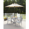 Garden Treasures Patio Umbrella (Common: 106-in W x 106-in L; Actual: 106-in W x 106-in L)