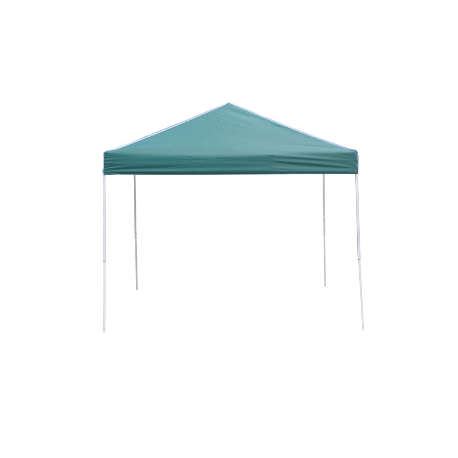Backyard Canopy Lowes :  ft W x 10ft L Rectangular Green Steel PopUp Canopy at Lowescom