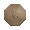 allen + roth Round Tan Patio Umbrella with Tilt-and-Crank (Common: 11-ft x 11-ft; Actual: 11-ft x 11-ft)