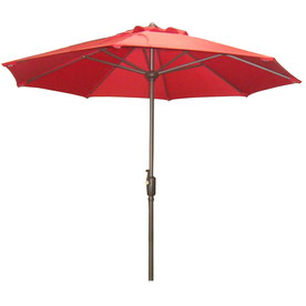 shop garden treasures 7 ft 6 in red round patio umbrella