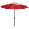 Garden Treasures 7-ft 6-in Red Round Patio Umbrella