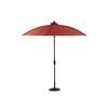 Garden Treasures Round Red Patio Umbrella with Tilt-and-Crank (Actual: 8.16-ft x 8.16-ft)