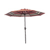 Garden Treasures 8-ft 10-in Red Striped Round Market Umbrella
