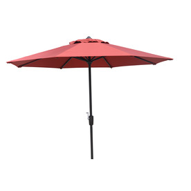 Garden Treasures 8-ft 10-in Red Round Market Umbrella