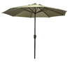 Garden Treasures 8-ft 10-in Taupe Round Market Umbrella