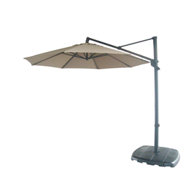 allen + roth Offset Patio Umbrella with Base (Common: 12.46-ft W x 12.46-ft L; Actual: 12.46-ft W x 12.46-ft L)