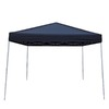 Garden Treasures 8-ft W x 10-ft L Rectangular Black Steel Pop-Up Canopy
