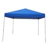 Garden Treasures 8-ft W x 10-ft L Rectangular Blue Steel Pop-Up Canopy