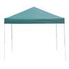 Garden Treasures 8-ft W x 10-ft L Rectangular Green Steel Pop-Up Canopy