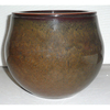 4.92-in H x 6.02-in W x 6.02-in D Brown Ceramic Planter
