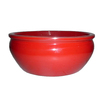 Garden Treasures 4.02-in H x 9.57-in W x 9.57-in D Red Ceramic Planter