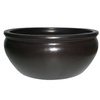 Garden Treasures 4.02-in H x 9.57-in W x 9.57-in D Black Ceramic Planter