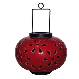 Large Red Ceramic Lantern