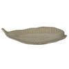 allen + roth Ceramic Leaf Tray 20.87-in x 9.45-in Cream Ceramic Oval Serving Tray