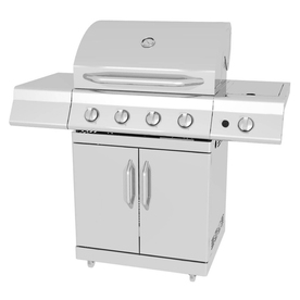 Master Forge 4-Burner (48000 BTU) Liquid Propane and Natural Gas Grill with Side Burner