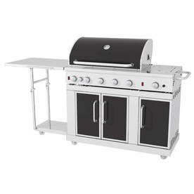 Master Forge 5-Burner (60000 BTU) Liquid Propane and Natural Gas Grill with Rotisserie Burner