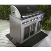 Master Forge Outdoor Grill Silver with Black Hood and Door 5-Burner (60,000-BTU) Liquid Propane Infrared Burner Gas Grill Rotisserie Burner