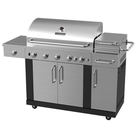 Master Forge New Outdoor Kitchen 5-Burner (60,000-BTU) Liquid Propane and Natural Gas Grill with Side Burner