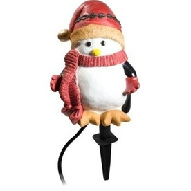 Holiday Living 3-Outlet 13-Amp Penguin Outdoor Stake with Waterproof Outlet Cover