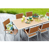 allen + roth Set Of 2 Chilham Silver Powder Coated Slat Seat Aluminum Stackable Patio Dining Chair