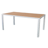 allen + roth Chilham Plastic-Top Silver Rectangle Patio Dining Table