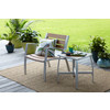 allen + roth Chilham 18-in x 18-in Silver Extruded Aluminum Square Patio End Table