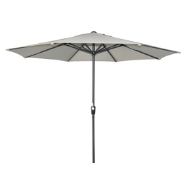 allen + roth Round Natural Market Umbrella with Crank (Common: 8.75-ft x 8.75-ft; Actual: 8.75-ft x 8.75-ft)