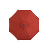 Garden Treasures Round Red Market Umbrella with Crank (Common: 105-in; Actual: 105-in)