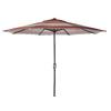 Garden Treasures Round Stripe Red Market Umbrella with Crank (Common: 105-in; Actual: 105-in)