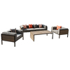 AE Outdoor Manhattan 4-Piece Resin Patio Conversation Set