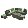 AE Outdoor Hampton 8-Piece Resin Patio Conversation Set