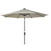 allen + roth Round Tan Market Umbrella with Tilt-and-Crank (Common: 106.2-in x 106.2-in; Actual: 106.2-in x 106.2-in)