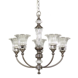 allen + roth 5-Light Colfax Polished Pewter Chandelier