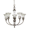 allen + roth Colfax 5-Light Polished Pewter Chandelier
